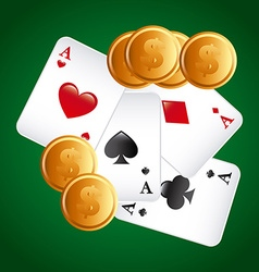 poker game vector image