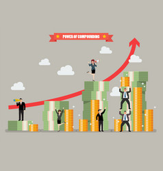 power of compounding vector image vector image