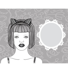 Pretty young woman vector image vector image