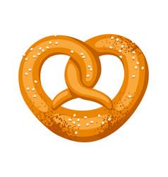pretzel salt and soft for vector image