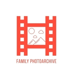 red family photoarchiv icon vector image