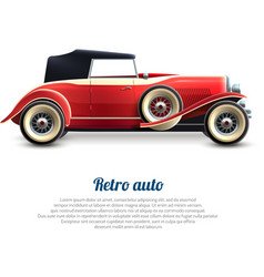 Retro car poster vector