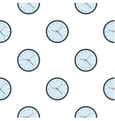 Round analog clock face pattern seamless vector