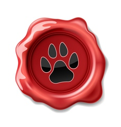 seal wax cat vector image