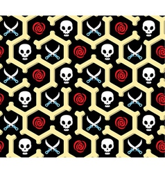 Seamless bandit theme pattern vector image