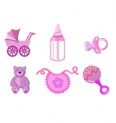 set of baby icons vector image vector image