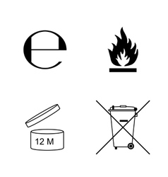 Set of packaging symbols vector