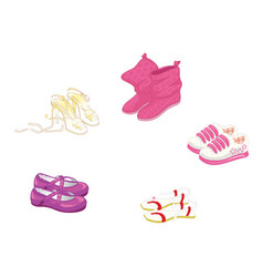 set of trendy women s shoes vector image