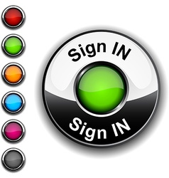 Sign in button vector