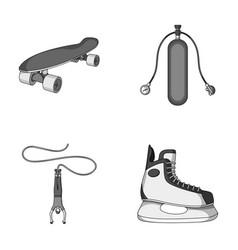 Skateboard oxygen tank for diving jumping vector
