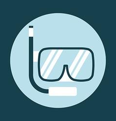 Snorkel icon vector