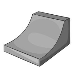 Springboard for snowboarding icon vector