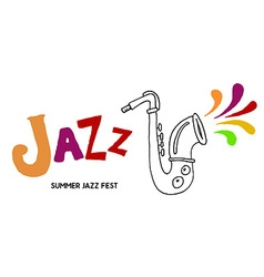 Summer jazz festival vector