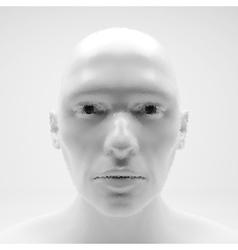 View of human head stipple effect art vector