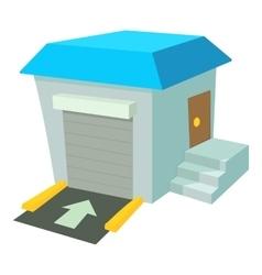 Warehouse icon cartoon style vector image