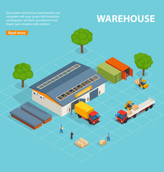 warehouse top view isometric design composition vector image