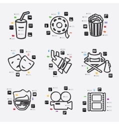 Cinema infographic vector