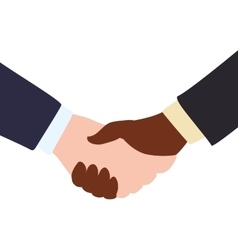 Deal hand shake gesture business icon vector
