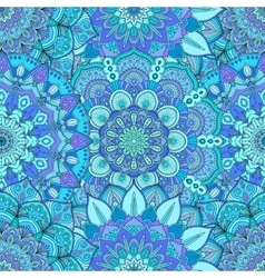 Flower Pattern Intricate Blue vector image