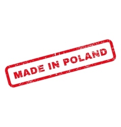 Made in poland text rubber stamp vector