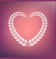 Heart shape wreath vector