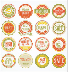 Retro vintage design quality badges collection 4 vector