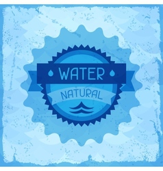 Water natural background in retro style vector image