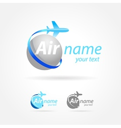 Airplane emblem sign plane symbol vector