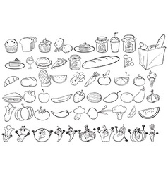Doodles food vector