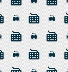 Keyboard icon sign seamless pattern with geometric vector