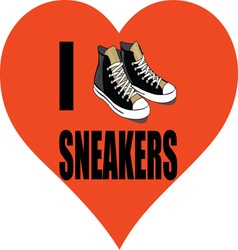 I love sneakers vector