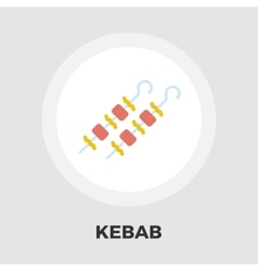 Kebab flat icon vector