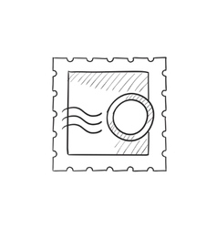 Philately sketch icon vector