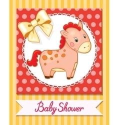 Baby horse cartoon smile isolated simple vector