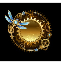 Banner with a Dragonfly vector image vector image