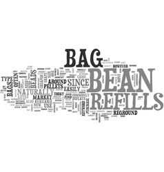 bean bag refills text word cloud concept vector image vector image