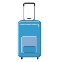 Blue travel suitcase icon cartoon style vector image