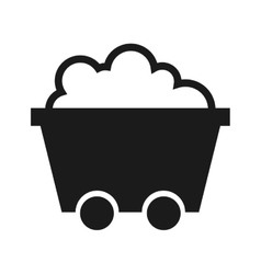 Cart transport mining industry icon vector