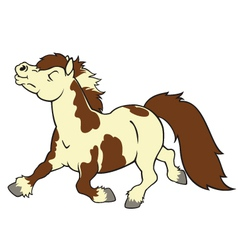 Cartoon pony vector