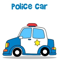 Collection stock of police car vector