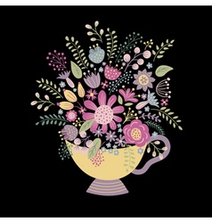 cup on a dark background vector image vector image