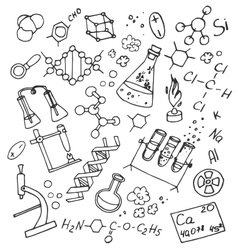 Doodle vektor chemistry vector image vector image