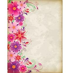 floral background pink vector image