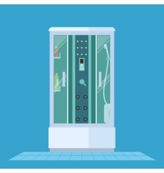 Modern shower cabin vector