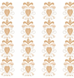 Natural floral ornament with swirls vector image