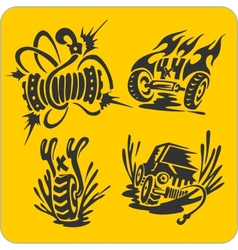 Off-road symbols - set vector