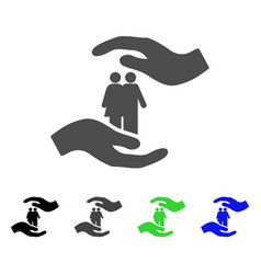 people care hands icon vector image