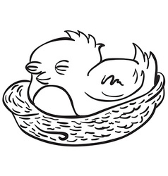 simple black and white bird vector image vector image
