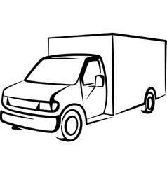 With a truck cargo concept vector