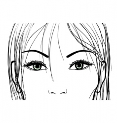 woman eyes vector image vector image